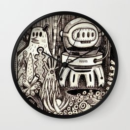 OGM GARDEN - La visite Wall Clock
