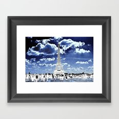 Tower Tourists in Reverse Framed Art Print