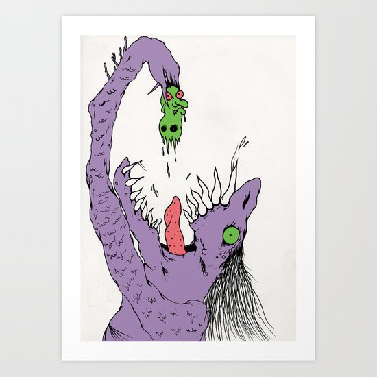 Mr. Grief Art Print