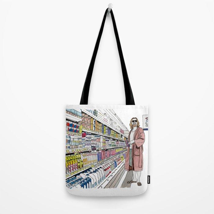 Jeffrey Lebowski and Milk. Tote Bag