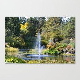 Fountain at VanDusen Botanical Garden Canvas Print
