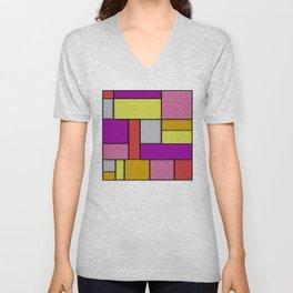 Mondrian #6 Unisex V-Neck