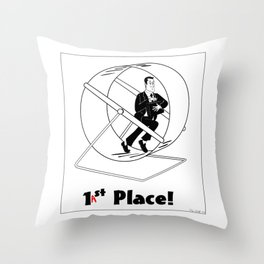 last place Throw Pillow