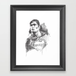 Christopher Reeve Portrait Framed Art Print