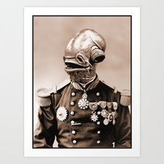 Portrait of Sir Ackbar Art Print