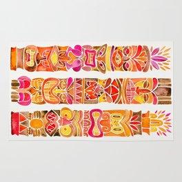 Tiki Totems – Fiery Palette Rug