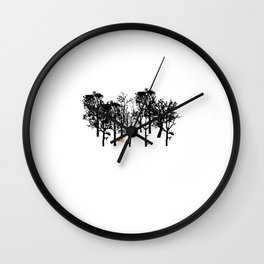 Fox in the Jungle Wall Clock