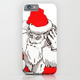 Merry Christmas DJ Santa Nonstop Remix iPhone Case