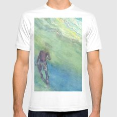 Snorkel White MEDIUM Mens Fitted Tee