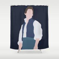 les miserables Shower Curtains featuring Marius - Eddie Redmayne - Les Miserables - Minimalist design by Hrern1313