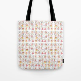 Russian doll and flowers pattern Tote Bag
