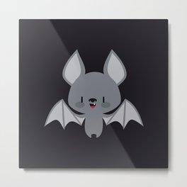 Cute baby bats Metal Print