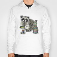 raccoon Hoodies featuring Raccoon by Anna Shell