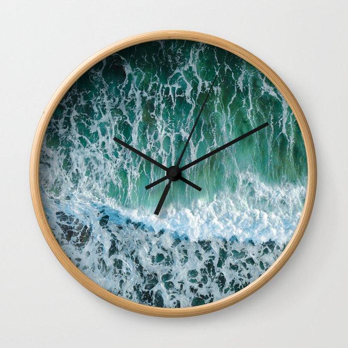 Emerald Tropical Ocean Shore Wall Clock