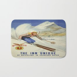 Vintage poster - Crawford Notch, New Hampshire Bath Mat