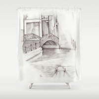 venice Shower Curtains featuring Venice by Ursula Rodgers