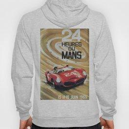 24hs Le Mans, 1963, vintage poster Hoody