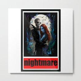nightmare jack and sally Metal Print