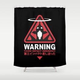Third Impact Evangelion Shower Curtain
