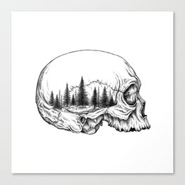 SKULL/FOREST Canvas Print