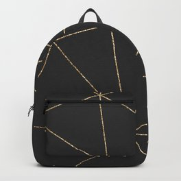 Modern abstract dark gray gold glitter geometrical Backpack