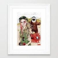rock n roll Framed Art Prints featuring ROCK N ROLL by ●•VINCE•●