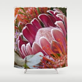 Lovely Feather Protea Shower Curtain