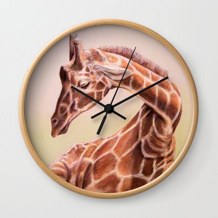 Giraffe: Restful Joy Wall Clock