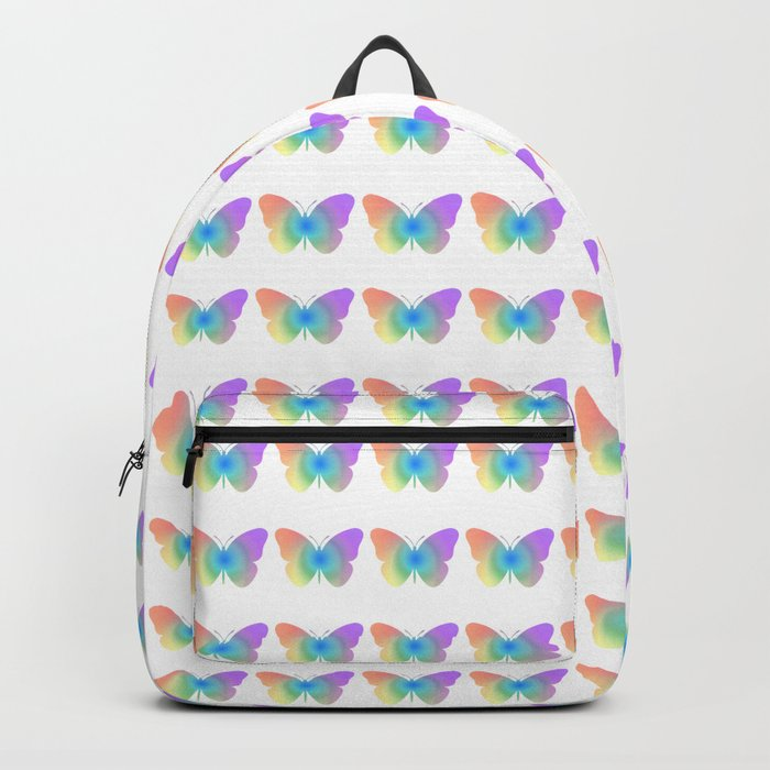 Pastel rainbow butterfly Backpack