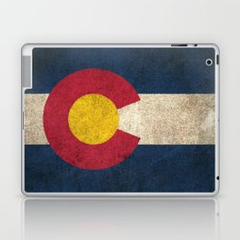 Old and Worn Distressed Vintage Flag of Colorado Laptop & iPad Skin