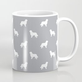 Bernese Mountain Dog pet silhouette dog breed minimal grey and white pattern Coffee Mug