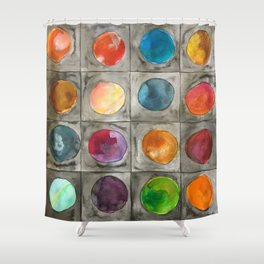 Mystery planets 1 Shower Curtain