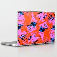 orange pattern Laptop & iPad Skins featuring Orange Pattern by Sarah Bagshaw