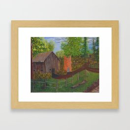 The old farm Framed Art Print