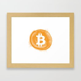 Bitcoin 6 Framed Art Print