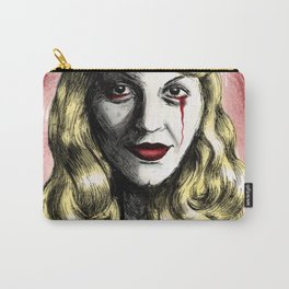 Sylvia Plath_Blood Red Carry-All Pouch