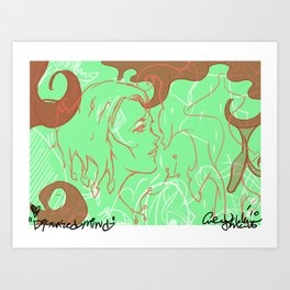 Lover of the Diseased Mind Art Print