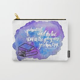 """illuminae """"you have me"""" watercolor bubble galaxy Carry-All Pouch"""