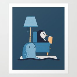 Reading Buddies Art Print