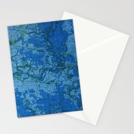 Newport old map year 1935 Stationery Cards