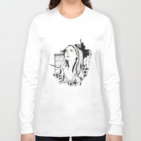 amy pond Long Sleeve T-shirts featuring Come Along Pond by Fedi