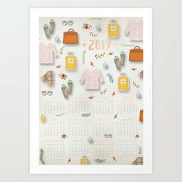 """Calendario 2019 """"Moda"""" Art Print"""