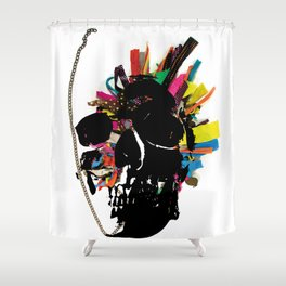skull necklace Shower Curtain