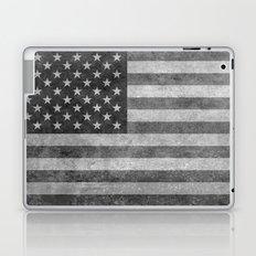 American flag - retro style in grayscale Laptop & iPad Skin