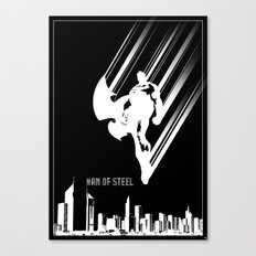 Superman Man of Steel Poster Canvas Print