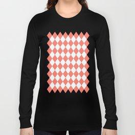 Diamonds (Salmon/White) Long Sleeve T-shirt