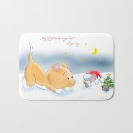 May Christmas live in your heart all year long Bath Mat