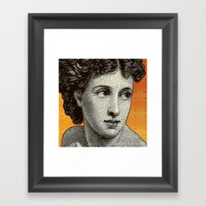 Seductress Orange Framed Art Print