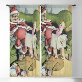 Christmas 1896 (1896) by J Ottman Lithographic Company Blackout Curtain