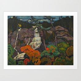 J.E.H. Macdonald Algoma Waterfall, 1920, McMichael Canadian Art Collection Art Print